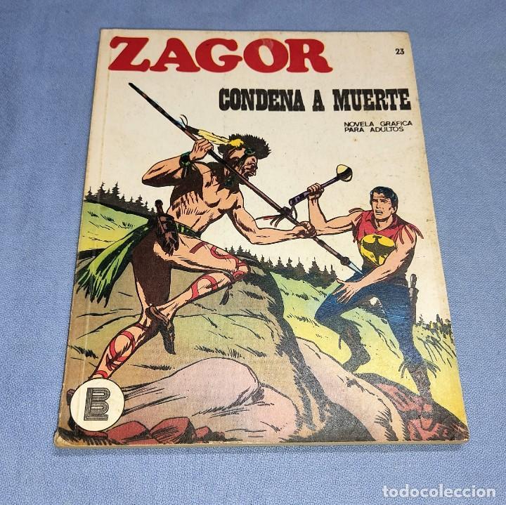 ZAGOR CONDENA A MUERTE Nº 23 BURU LAN BURULAN EDICIONES COMPLETO EN MUY BUEN ESTADO (Tebeos y Comics - Buru-Lan - Zagor)