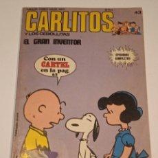 Cómics: CHARLIE BROWN - CARLITOS Y LOS CEBOLLETAS - Nº43 - BURULAN 1974. Lote 257273110