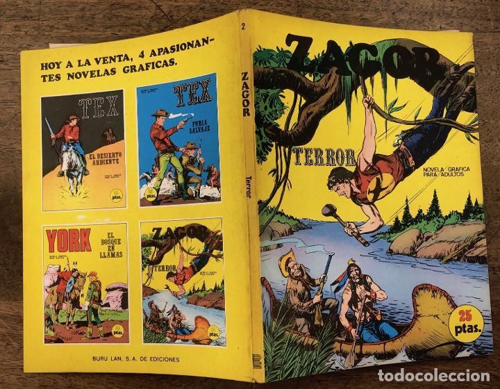 ZAGOR TERROR. Nº 2. COLECCION ZAGOR. BURU LAN 1971 (Tebeos y Comics - Buru-Lan - Zagor)