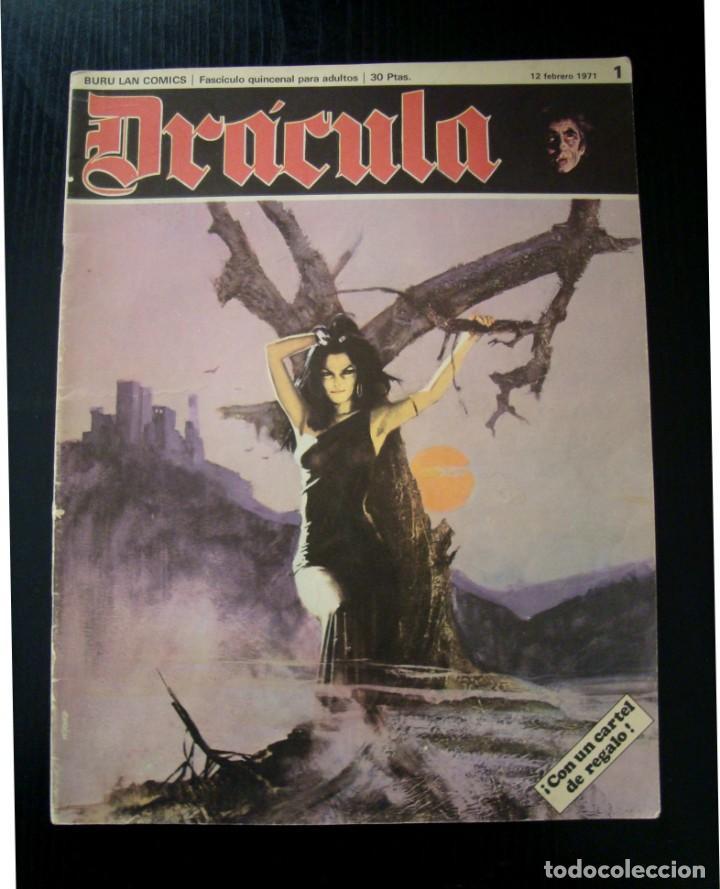 DRÁCULA Nº 1 BURU LAN DE 1971 (Tebeos y Comics - Buru-Lan - Drácula)