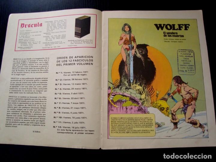 Cómics: DRÁCULA Nº 1 BURU LAN DE 1971 - Foto 2 - 257934930