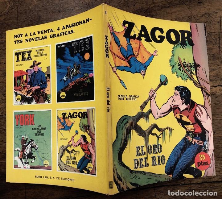 ZAGOR. Nº 3. EL ORO DEL RIO. COLECCION ZAGOR. BURU LAN 1971 (Tebeos y Comics - Buru-Lan - Zagor)