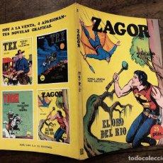 Cómics: ZAGOR TERROR. Nº 3. EL ORO DEL RIO. COLECCION ZAGOR. BURU LAN 1971. Lote 259207955