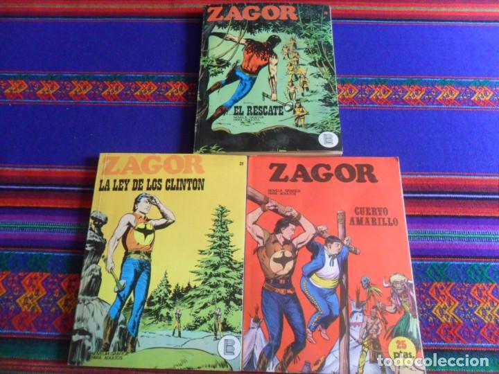 ZAGOR NºS 4 31 32. BURU LAN 1971. 25 PTS. REGALO COLECCIÓN PYTHON MIKROS Nº 24 IBERO MUNDIAL 1972 BE (Tebeos y Comics - Buru-Lan - Zagor)