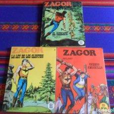 Cómics: ZAGOR NºS 4 31 32. BURU LAN 1971. 25 PTS. REGALO COLECCIÓN PYTHON MIKROS Nº 24 IBERO MUNDIAL 1972 BE. Lote 260413230