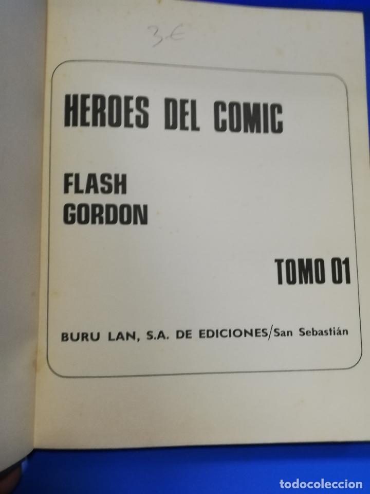 Cómics: FLASH GORDON EL RAYO VERDE. TOMO 01. BURU LAN, S.A. DE EDICIONES. 1972. PAGS. 200. - Foto 2 - 260818860