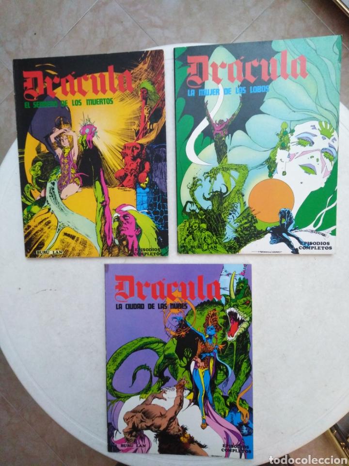LOTE DE 3 TOMOS DE DRÁCULA ( EPISODIOS COMPLETOS ) (Tebeos y Comics - Buru-Lan - Drácula)