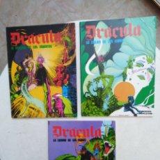 Fumetti: LOTE DE 3 TOMOS DE DRÁCULA ( EPISODIOS COMPLETOS ). Lote 263596265