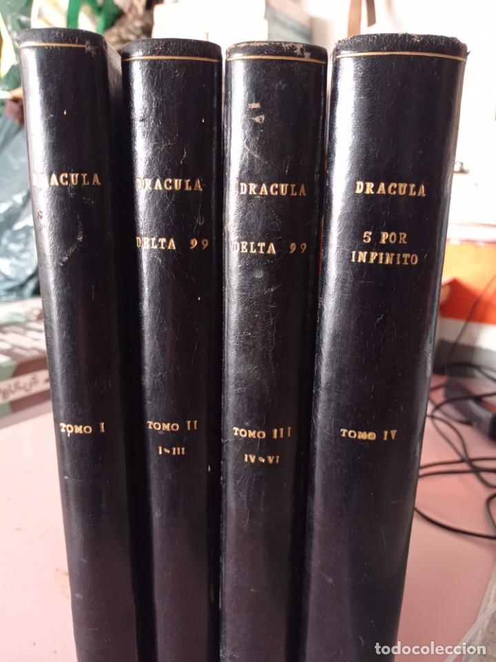 LOTE 4 TOMOS DRACULA ( BURU LAN)ESTEBAN MAROTO ENCUADERNACION TAPA DURA Y DORADO. UNICOS. REF. UR (Tebeos y Comics - Buru-Lan - Drácula)