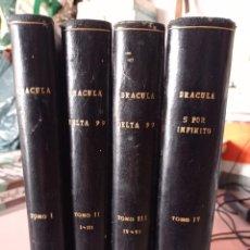 Cómics: LOTE 4 TOMOS DRACULA ( BURU LAN)ESTEBAN MAROTO ENCUADERNACION TAPA DURA Y DORADO. UNICOS. REF. UR. Lote 264528489