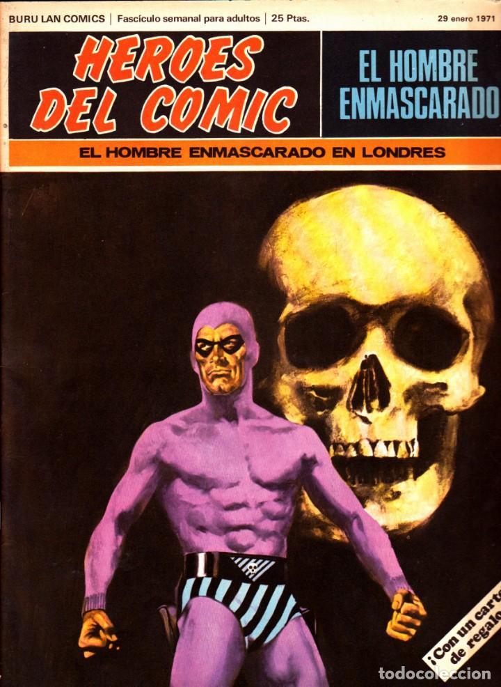 LOTE DE 11 COMICS EL HOMBRE ENMASCARADO EDITORIAL BURU LAN DEL 1 AL 11 DEL PRIMER TOMO (Tebeos y Comics - Buru-Lan - Hombre Enmascarado)
