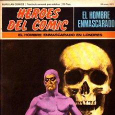 Cómics: LOTE DE 11 COMICS EL HOMBRE ENMASCARADO EDITORIAL BURU LAN DEL 1 AL 11 DEL PRIMER TOMO. Lote 265415284