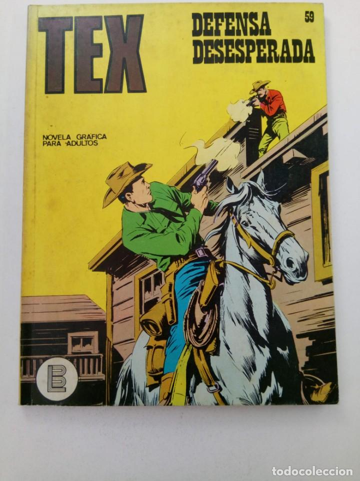 TEX Nº 59 - DEFENSA DESESPERADA - BURU LAN EDICIONES (Tebeos y Comics - Buru-Lan - Tex)