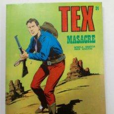 Comics : TEX Nº 24 - MASACRE - BURU LAN EDICIONES. Lote 265798409