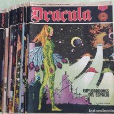 Cómics: LOTE 24 DRÁCULA. COMIC. BURU LAN EDICIONES. 1972. HÉROES DEL COMIC. Lote 265983743