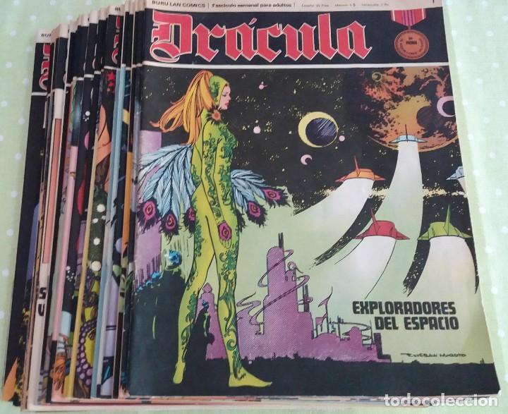 Cómics: Lote 24 Drácula. Comic. Buru Lan ediciones. 1972. Héroes del comic - Foto 6 - 265983743