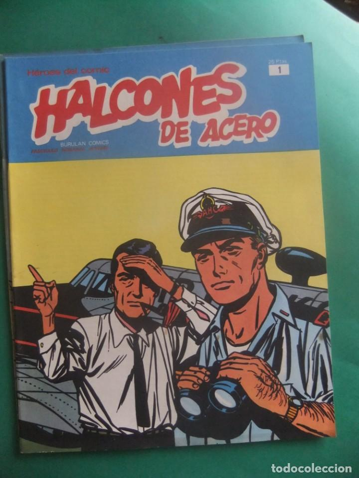 Cómics: HALCONES DE ACERO NUMEROS 1 Y 4 BURULAN EDICIONES - Foto 2 - 266507673