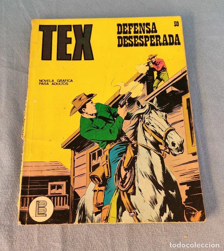 TEX DEFENSA DESESPERADA Nº 59 BURU LAN AÑOS 70 (Tebeos y Comics - Buru-Lan - Tex)