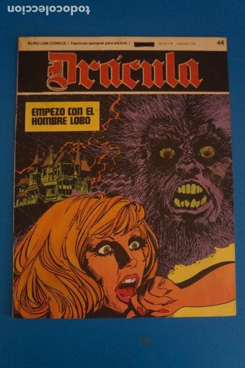COMIC DE DRÁCULA EMPEZO CON EL HOMBRE LOBO AÑO 1970 Nº 44 DE EDICIONES BURU LAN LOTE 27 F (Tebeos y Comics - Buru-Lan - Drácula)