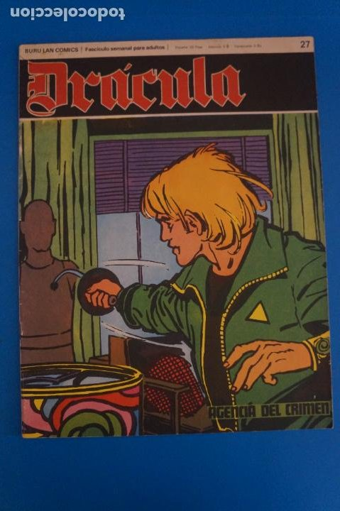 COMIC DE DRÁCULA AGENCIA DEL CRIMEN AÑO 1970 Nº 27 DE EDICIONES BURU LAN LOTE 27 F (Tebeos y Comics - Buru-Lan - Drácula)