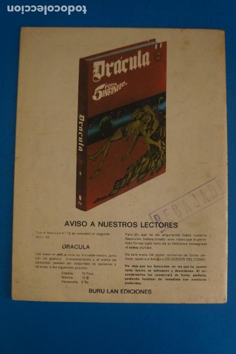 Cómics: COMIC DE DRÁCULA LA FUERZA MAGNETICA AÑO 1970 Nº 13 DE EDICIONES BURU LAN LOTE 27 F - Foto 2 - 269218883