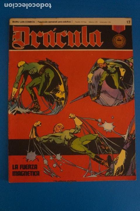 COMIC DE DRÁCULA LA FUERZA MAGNETICA AÑO 1970 Nº 13 DE EDICIONES BURU LAN LOTE 27 F (Tebeos y Comics - Buru-Lan - Drácula)