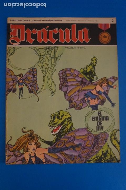 COMIC DE DRÁCULA EL ENIGMA DE MY AÑO 1970 Nº 12 DE EDICIONES BURU LAN LOTE 27 F (Tebeos y Comics - Buru-Lan - Drácula)