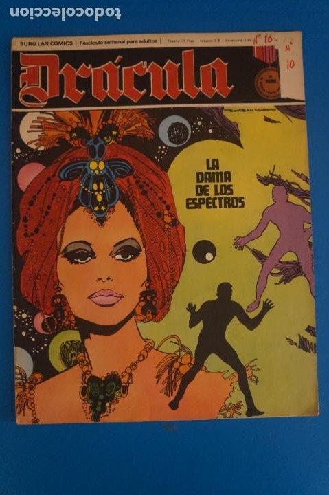 COMIC DE DRÁCULA LA DAMA DE LOS ESPECTROS AÑO 1970 Nº 10 DE EDICIONES BURU LAN LOTE 27 F (Tebeos y Comics - Buru-Lan - Drácula)