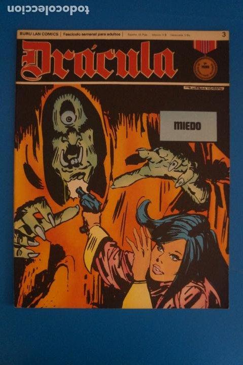 COMIC DE DRÁCULA MIEDO AÑO 1970 Nº 3 DE EDICIONES BURU LAN LOTE 27 F (Tebeos y Comics - Buru-Lan - Drácula)