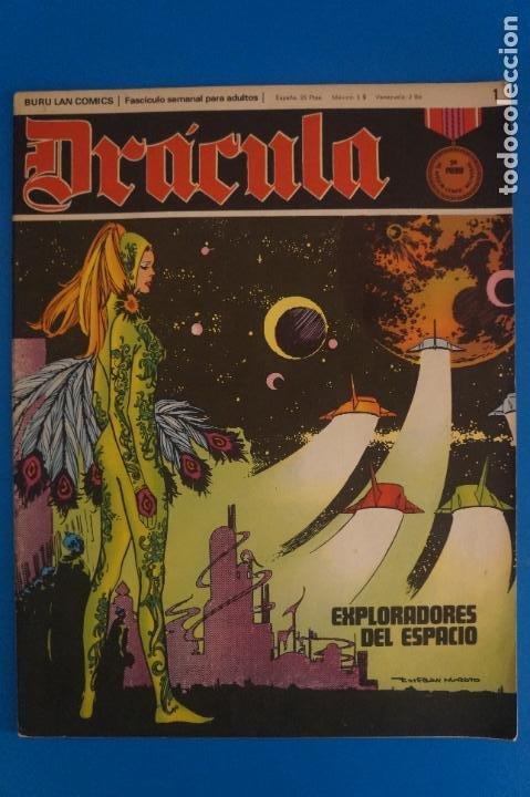 COMIC DE DRÁCULA EXPLORADORES DEL ESPACIO AÑO 1970 Nº 1 DE EDICIONES BURU LAN LOTE 27 F (Tebeos y Comics - Buru-Lan - Drácula)