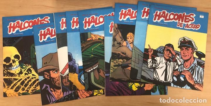 HALCONES DE ACERO. NUMEROS 1-4-5-6-7-8-9-10-12. BURULAN. 1974 (Tebeos y Comics - Buru-Lan - Halcones de Acero)