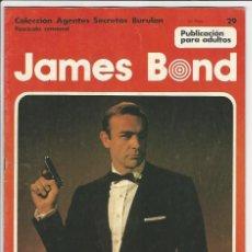 Cómics: BURULAN. JAMES BOND. 29. AGENTES SECRETOS.. Lote 271347323