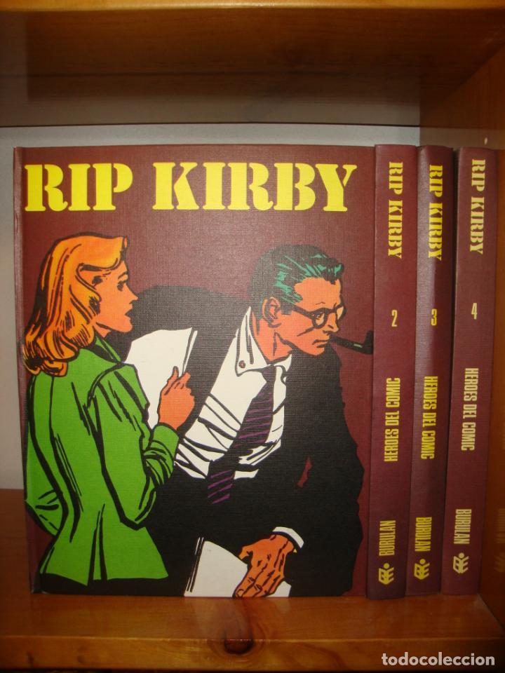 RIP KIRBY. COMPLETO EN 4 TOMOS - BURU LAN, 1973, MUY BUEN ESTADO (Tebeos y Comics - Buru-Lan - Rip Kirby)