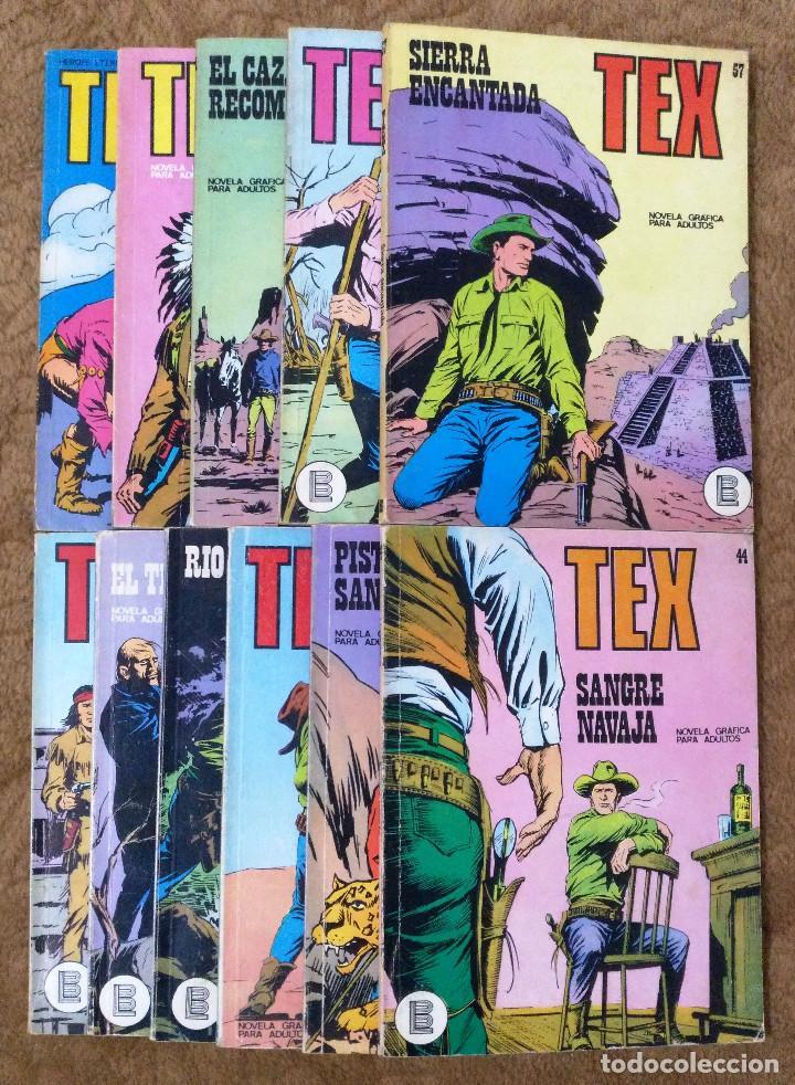 TEX Nº 44, 46, 49, 51, 54, 56, 57, 60, 61, 65 Y 69 (BURU-LAN 1972/73) 11 NOVELAS. (Tebeos y Comics - Buru-Lan - Tex)