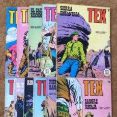 Cómics: TEX Nº 44, 46, 49, 51, 54, 56, 57, 60, 61, 65 Y 69 (BURU-LAN 1972/73) 11 NOVELAS.. Lote 243128705