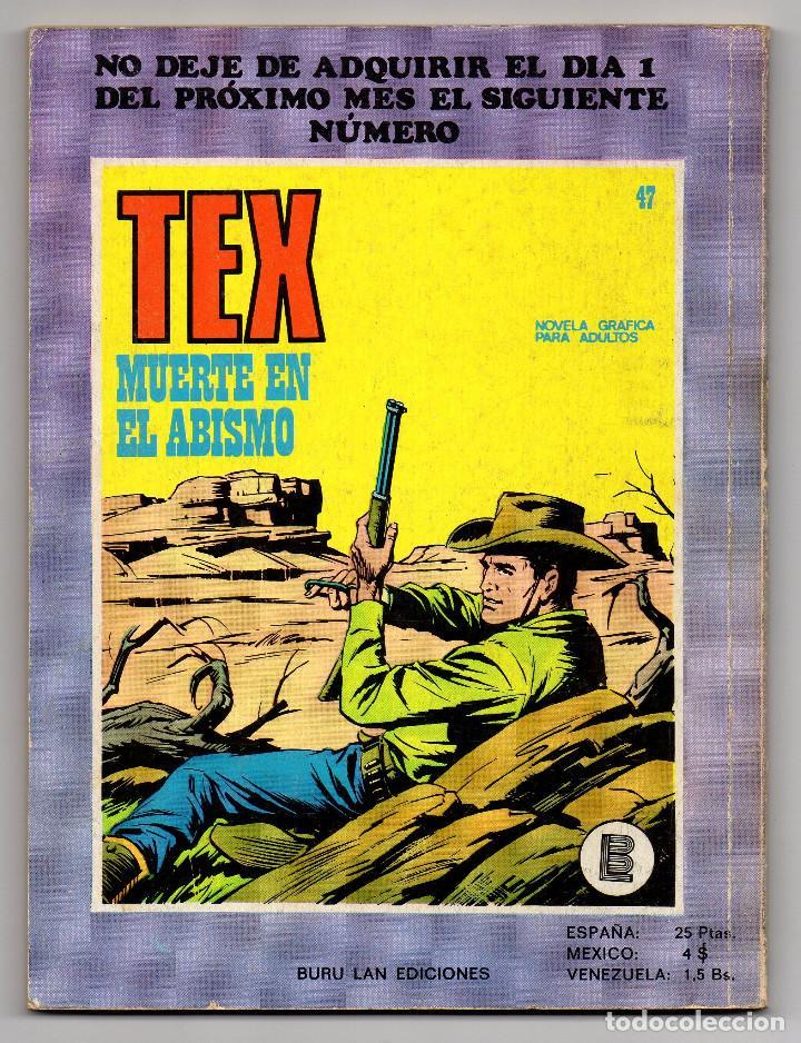 Cómics: TEX nº 44, 46, 49, 51, 54, 56, 57, 60, 61, 65 y 69 (Buru-Lan 1972/73) 11 novelas. - Foto 7 - 243128705