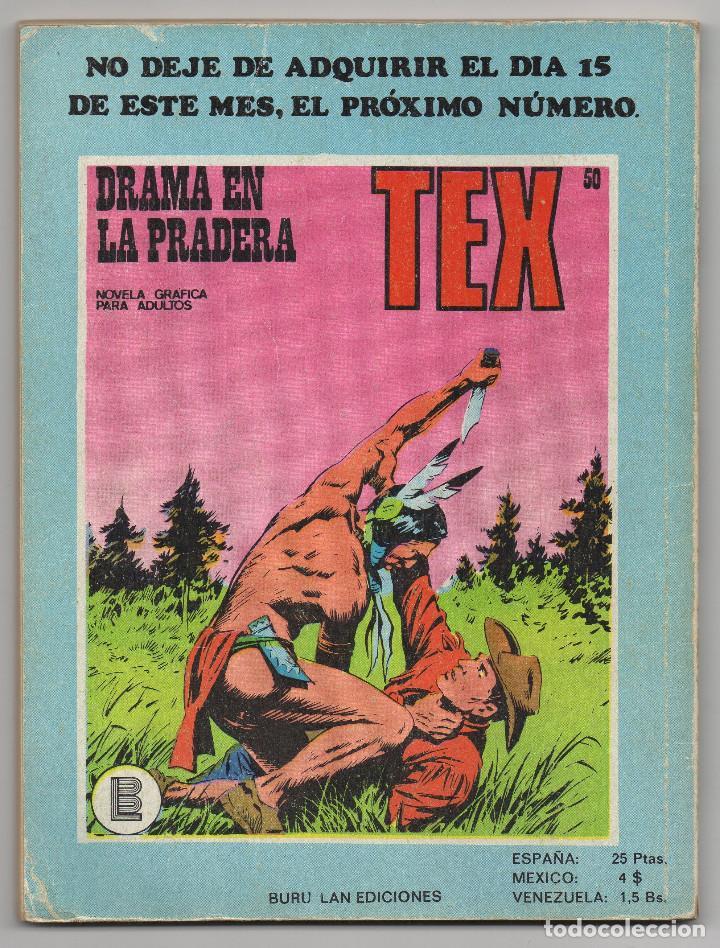 Cómics: TEX nº 44, 46, 49, 51, 54, 56, 57, 60, 61, 65 y 69 (Buru-Lan 1972/73) 11 novelas. - Foto 10 - 243128705