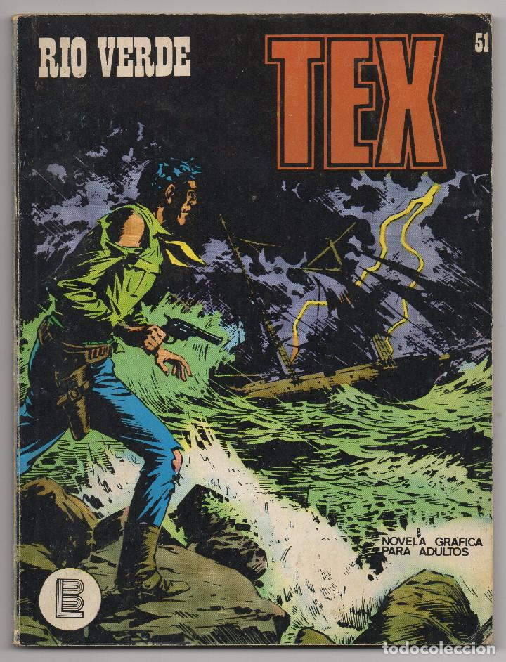 Cómics: TEX nº 44, 46, 49, 51, 54, 56, 57, 60, 61, 65 y 69 (Buru-Lan 1972/73) 11 novelas. - Foto 11 - 243128705
