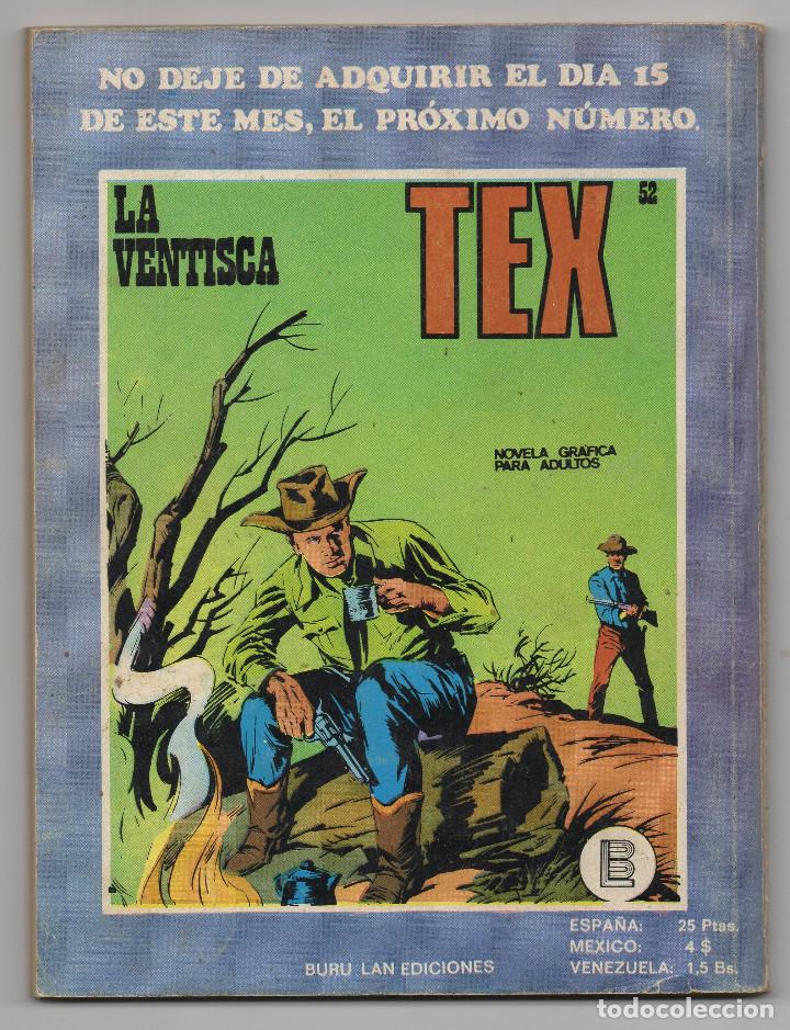 Cómics: TEX nº 44, 46, 49, 51, 54, 56, 57, 60, 61, 65 y 69 (Buru-Lan 1972/73) 11 novelas. - Foto 13 - 243128705