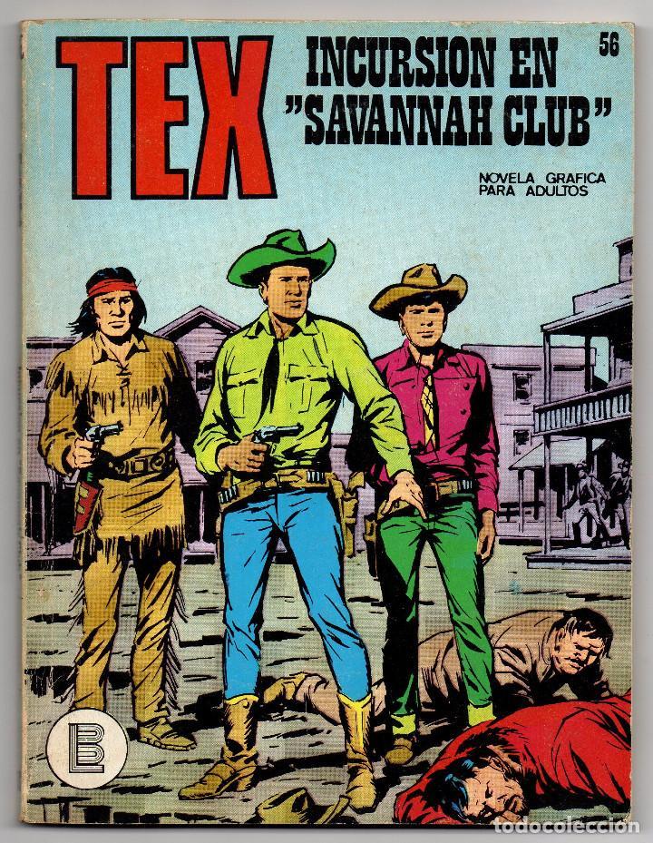 Cómics: TEX nº 44, 46, 49, 51, 54, 56, 57, 60, 61, 65 y 69 (Buru-Lan 1972/73) 11 novelas. - Foto 17 - 243128705