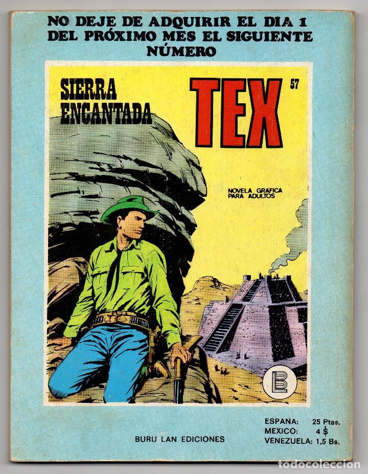Cómics: TEX nº 44, 46, 49, 51, 54, 56, 57, 60, 61, 65 y 69 (Buru-Lan 1972/73) 11 novelas. - Foto 19 - 243128705