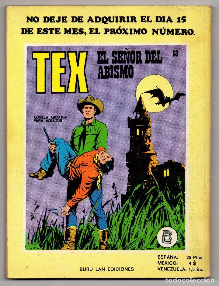Cómics: TEX nº 44, 46, 49, 51, 54, 56, 57, 60, 61, 65 y 69 (Buru-Lan 1972/73) 11 novelas. - Foto 22 - 243128705