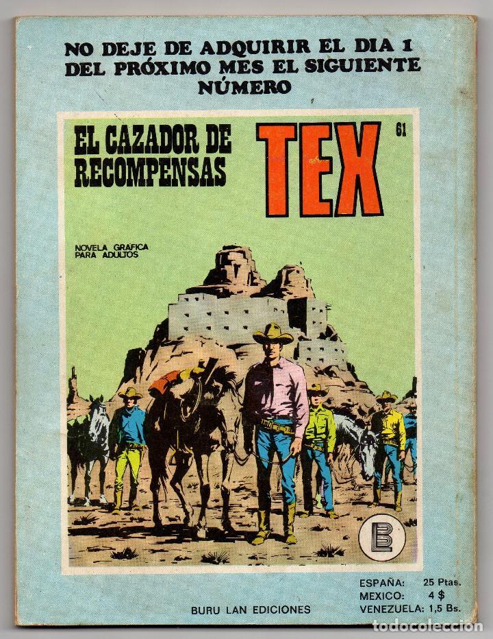 Cómics: TEX nº 44, 46, 49, 51, 54, 56, 57, 60, 61, 65 y 69 (Buru-Lan 1972/73) 11 novelas. - Foto 25 - 243128705