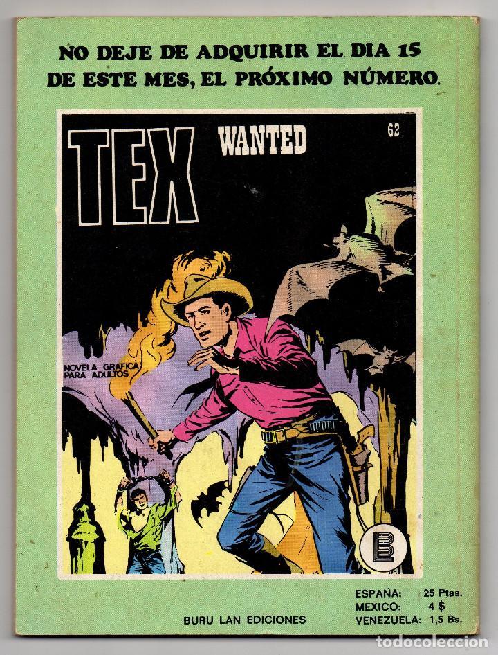 Cómics: TEX nº 44, 46, 49, 51, 54, 56, 57, 60, 61, 65 y 69 (Buru-Lan 1972/73) 11 novelas. - Foto 28 - 243128705