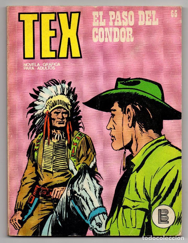 Cómics: TEX nº 44, 46, 49, 51, 54, 56, 57, 60, 61, 65 y 69 (Buru-Lan 1972/73) 11 novelas. - Foto 29 - 243128705