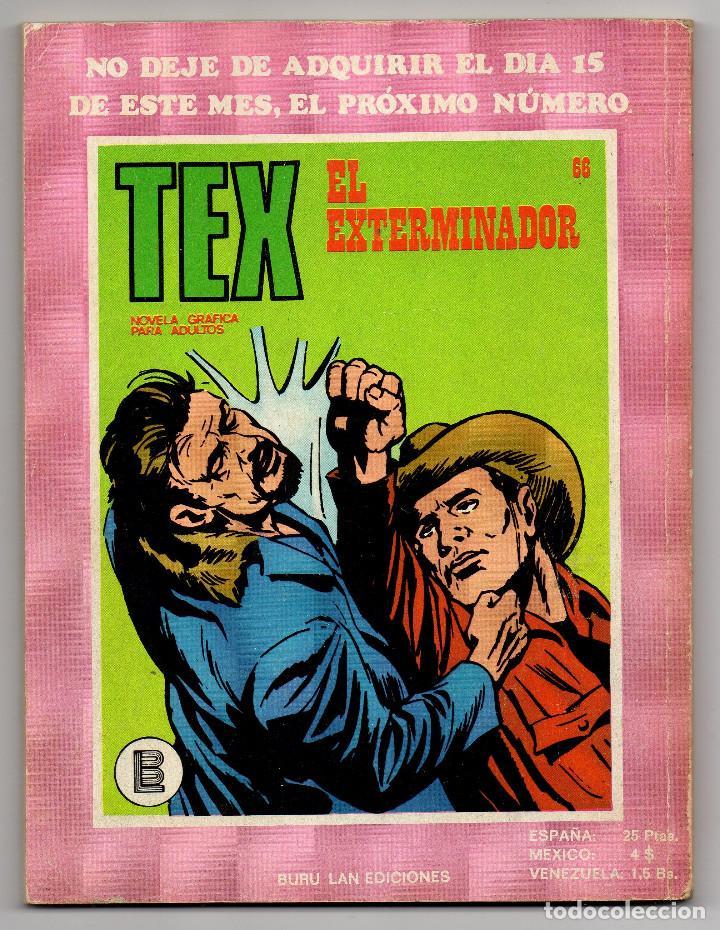Cómics: TEX nº 44, 46, 49, 51, 54, 56, 57, 60, 61, 65 y 69 (Buru-Lan 1972/73) 11 novelas. - Foto 31 - 243128705