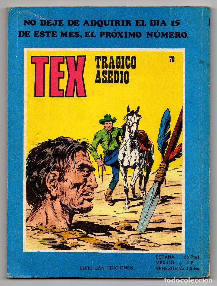 Cómics: TEX nº 44, 46, 49, 51, 54, 56, 57, 60, 61, 65 y 69 (Buru-Lan 1972/73) 11 novelas. - Foto 34 - 243128705