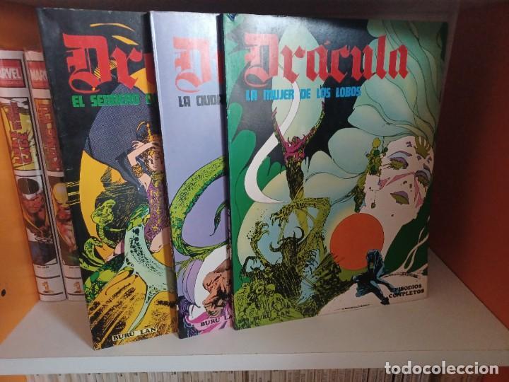 Cómics: DRACULA BURULAN - ESTEBAN MAROTO-Colección Completa de TRES TOMOS en Rustica - Foto 2 - 273350763
