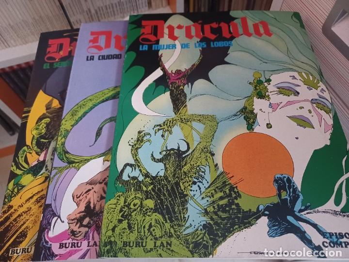 Cómics: DRACULA BURULAN - ESTEBAN MAROTO-Colección Completa de TRES TOMOS en Rustica - Foto 3 - 273350763