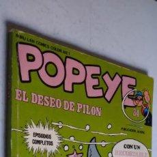 Fumetti: POPEYE 34. EL DESEO DE PILON. BURU LAN COMICS COLOR Nº 1, 1-8-1973. CONTIENE EL RECORTABLE INTACTO.. Lote 275308943